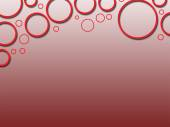 Red circle three dee abstract background  — Stock Photo
