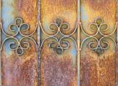 Rust door texture — Stock Photo