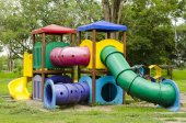 Children Stairs Slides equipment — Stock Photo