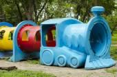 Children playground in the park — Stock fotografie
