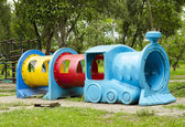 Children playground in the park — Stock Photo