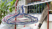 Outdoor clothes hanger — Stock Photo