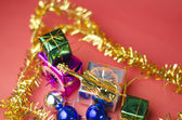 Item decorate for christmas tree — 图库照片