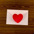Red heart with pink envelope — Stock Photo #54892037