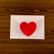 Red heart with pink envelope — Stock Photo #54892339