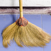 Broom in house — Photo