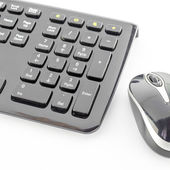 Keyboard and wireless mouse — Stock Photo