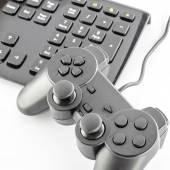 Klávesnice počítače a herní zařízení — Stock fotografie