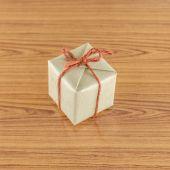 Boîte cadeau marron — Photo