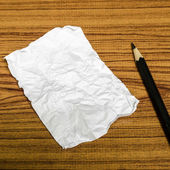 Paper scrap with pencil — Stock Photo