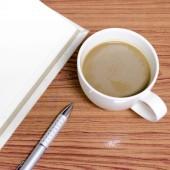 Café e notebook — Fotografia Stock