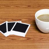 相框咖啡杯 — 图库照片