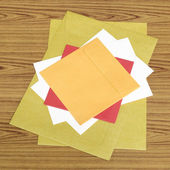 Envelope on a table — Stock Photo