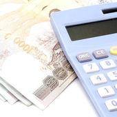 Thai banknote with calculator — Stockfoto