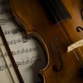 ビンテージ スタイルでバイオリン — ストック写真