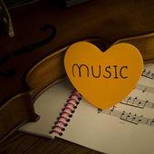 Time to practice violin — Stockfoto