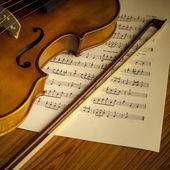 Time to practice violin — Foto de Stock