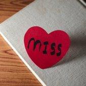 Cuaderno y el corazón — Foto de Stock