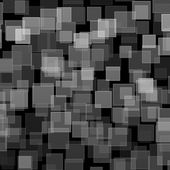 Black white square bokeh on abstract background — Foto de Stock