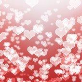 White heart bokeh — Foto de Stock