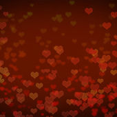 Red heart bokeh abstract background — 图库照片