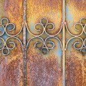 Rust door texture — Stock Photo
