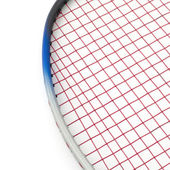 Badminton isolated on white — Foto Stock