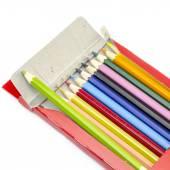 Lápices de colores aislados en blanco — Foto de Stock