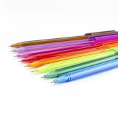 Colorful pens isolated on white — Stockfoto