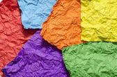 Colour crumpled paper texture — Стоковое фото