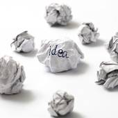 Crumpled paper ball — Stock Photo