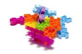 Toy plastic block  — Stockfoto