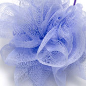 Purple bath puff — Stockfoto