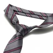 Grey neck tie — Stockfoto