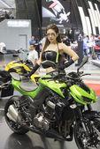 Kawasaki motorcycle show — Stock Photo