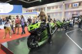 Kawasaki motorcycle show — Stock Photo