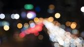 Defocused car lights — Stock Photo
