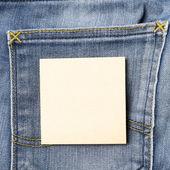 Nota over jean zak — Stockfoto