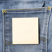 Note on jean pocket — Stock Photo