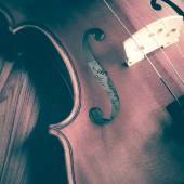 Time to practice violin — Stock Photo