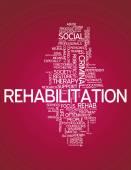 Word Cloud Rehabilitation — Stock Photo