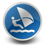 Icon, Button, Pictogram Windsurfing — Stok fotoğraf