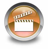 Icono, botón, claqueta pictograma — Foto de Stock