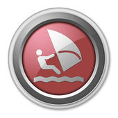 Symbol, Button, Piktogramm Windsurfen — Stockfoto
