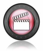 значок, кнопки, пиктограммы с ' хлопушкой  — Стоковое фото