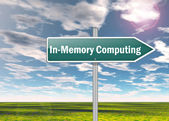 Signpost In-Memory Computing — Stock Photo