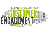 Word Cloud Customer Engagement — Stock Photo