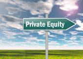 Signpost Private Equity — Stock Photo