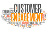 Word Cloud Customer Engagement — Stock Photo