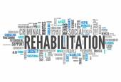 Word Cloud Rehabilitation — Stock Photo